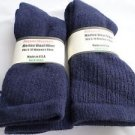 2 Pair Pocono 82% Merino Wool Hiker Women Socks USA Shoe 5-10 Blue