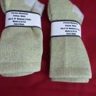 2 Pair Womens Medium Pocono Cotton Crew Boot Hiker Warm Sock 5-10 USA