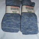 2 Pair Pocono 82%  Merino Wool Hiker Women Socks USA Shoe 5-10 Denim grey