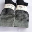 2 Pair Pocono 82%  Merino Wool Hiker Women Socks USA Shoe 5-10 Black Grey