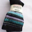 1 Pair Pocono 82%  Merino Wool Hiker Women Socks USA Shoe 5-10 Aqua Strip