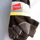 3 Pair Hanes Large No Show Casual Socks Cushion All Day Comfort  Brown 6-12