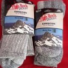 2 Pair Extra Large High Rock Merino Wool Expedition Socks 13-16  Made in USA