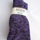 1 Pair Pocono 82% Merino Wool Hiker Women Socks USA Shoe 5-10 Black Purple