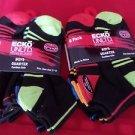 12 Pair Ecko Unlimited Boys Quarter High Socks Soft  Durable Black Neon 3-9