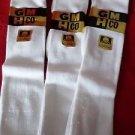 3 Pair Mens Medium Gold Medal Over the Calf Lisle Dress Socks Soft 8-12