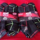 12 Pair Ecko Unlimited Mens Quarter Socks Soft and Durable Black Lines 6-12