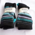 2 Pair Pocono 82%  Merino Wool Hiker Women Socks USA Shoe 5-10 Aqua Stripe
