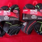 12 Pair Ecko Unlimited Boys No Show Boat Socks Soft  Durable Black Lines 9-2 1/2