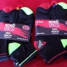 12 Pair Ecko Unlimited Mens Quarter Socks Soft and Durable Black Heel Toe 6-12