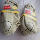 6 Pair Hanes Large No Show Casual Socks Cushion All Day Comfort  Khaki 6-12