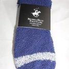 2 Pair Beverly Hills Polo Club Fuzzy Comfy Warm Socks 6-12 Navy Blue