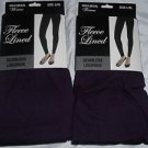 2 Pair Gold Medal  Seamless Womens Fleece Leggings Purple  Large/Extra Large
