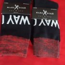 2 Pair Large Marc Ecko Cut & Sew Cotton Crew Socks 6-12 Red