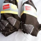 6 Pair Hanes Large No Show Casual Socks Cushion All Day Comfort  Brown 6-12