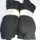 6 Pair of  Pocono Relaxed Fit Cotton Cushion Crew Socks 12-15 Made USA Black