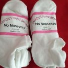 6 Pair Medium No Nonsense Low Profile Low Cut Heel Guard Sock White 9-11 USA