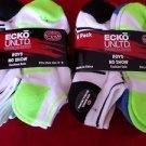 12 Pair Ecko Unlimited Boys No Show Boat Socks Soft Durable White Heel Toe 3-9