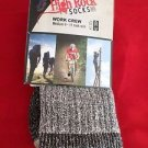 1 Pair Large High Rock Cotton Hiker Work Socks 9-12 Arch Support Made in USA