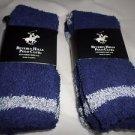 4 Pair Beverly Hills Polo Club Fuzzy Comfy Warm Socks 6-12 Navy Blue