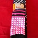 3 Pair Womens Medium Gold Medal Knee High Socks Soft Durable Polka Dots 9-11