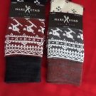2 Pair Large Marc Ecko Cut & Sew Cotton Crew Socks 6-12 Skier