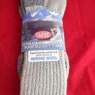 1 Pair Large Clear Creek 67% Merino Wool Heavy Hikers Sock 6-12 USA Red