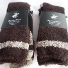 4 Pair Beverly Hills Polo Club Fuzzy Comfy Warm Socks 6-12 Brown
