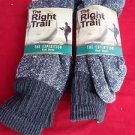 2 Pair Large Right Trail  50% Merino Wool Boot Thermal Socks 10-13 USA
