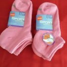 6 Pack Hanes Sport Breathable Low Cut Mesh Socks Pink Great Quality 5-9
