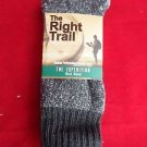 1 Pair Large Right Trail  50% Merino Wool Boot Thermal Socks 10-13 USA