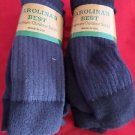 6 Pair XLarge Carolina 71% Merino Wool Hiker Navy Outdoor Socks 13-15 USA