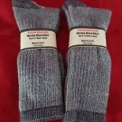 2 Pair Pocono 18% Merino Wool Hiker Sock 9-12 Mens Arch Support Made in USA Navy