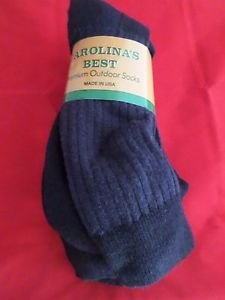 3 Pair XLarge Carolina 71% Merino Wool Hiker Navy Outdoor Socks 13-15 USA