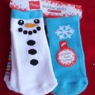 6 Pair Hanes Gripper Toddler Socks Snowman Snowflake Red Green 12-24 Months