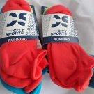 6 Pair City Sport Running No Show Socks Tab Back Heel Guard  6-12 Bright Neon