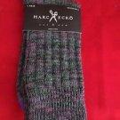 1 Pair Large Marc Ecko Cut & Sew Cotton Crew Socks 6-12 Blue Toe Heel