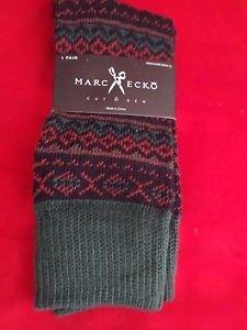 1 Pair Large Marc Ecko Cut & Sew Cotton Crew Socks 6-12 Zig Zag