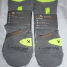 2 Pair Champion Correct Fit Basketball High Ankle Socks Arch Support Grey 6-12