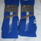 2 Pair Champion Correct Fit  Basketball Crew Socks Arch Support Blue 6-12