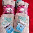 4 Pair Medium Real Tree 20% Wool Hiker Work Boot Socks 6-9 Arch Support Made USA
