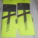 2 Pair Champion Correct Fit  Basketball Crew Socks Arch Support Yellow 6-12