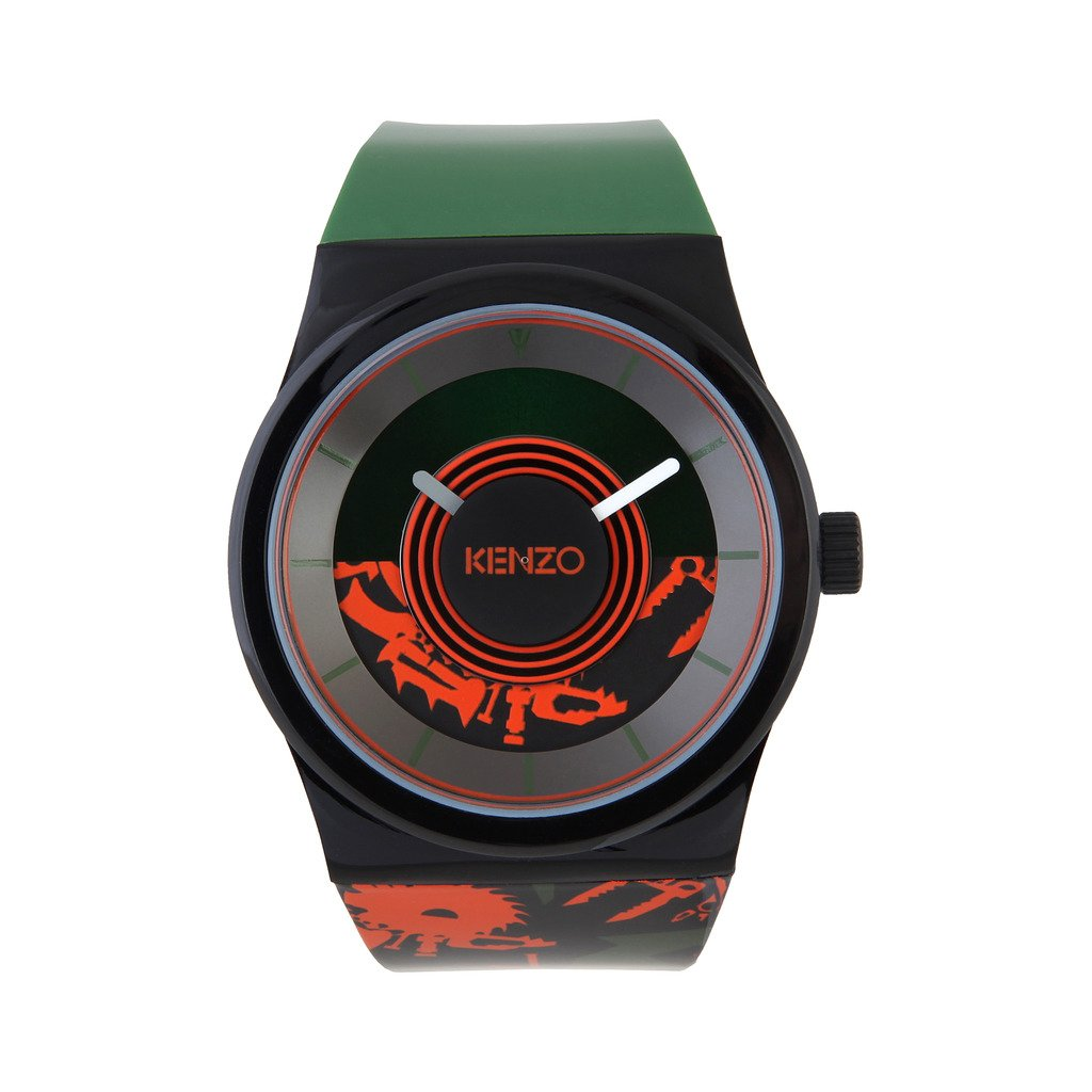 Kenzo K0034-005 Men's Watch, Black & Green