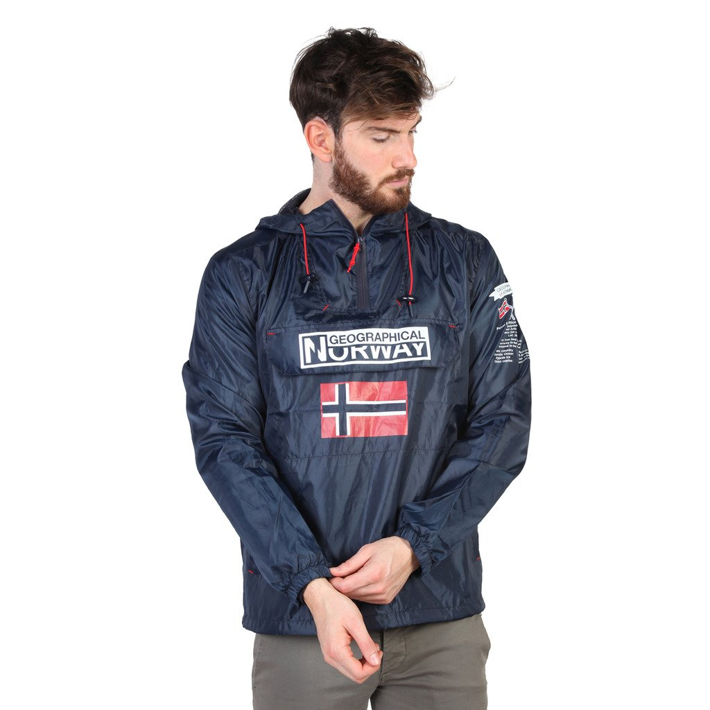 Geographical Norway Butagaz Men's Windbreaker, Navy Blue, M