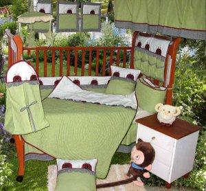 green ladybug new born baby bedding set, 10pcs