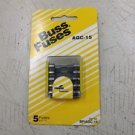 BUSS FUSES 15 AMP BP/AGC-15