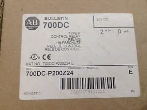 New In Box, Allen-Bradley 700DC-P200Z24 Control Relay 10A 600V,Coil: 24VD