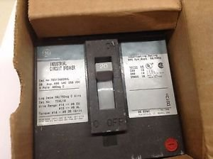GE Circuit Breaker TED134020WL 20A 480VAC 250VDC 3P New