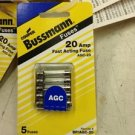 Bussman BP/AGC-20-RP 20 Amp AGC/Glass Fuse 5 Pack