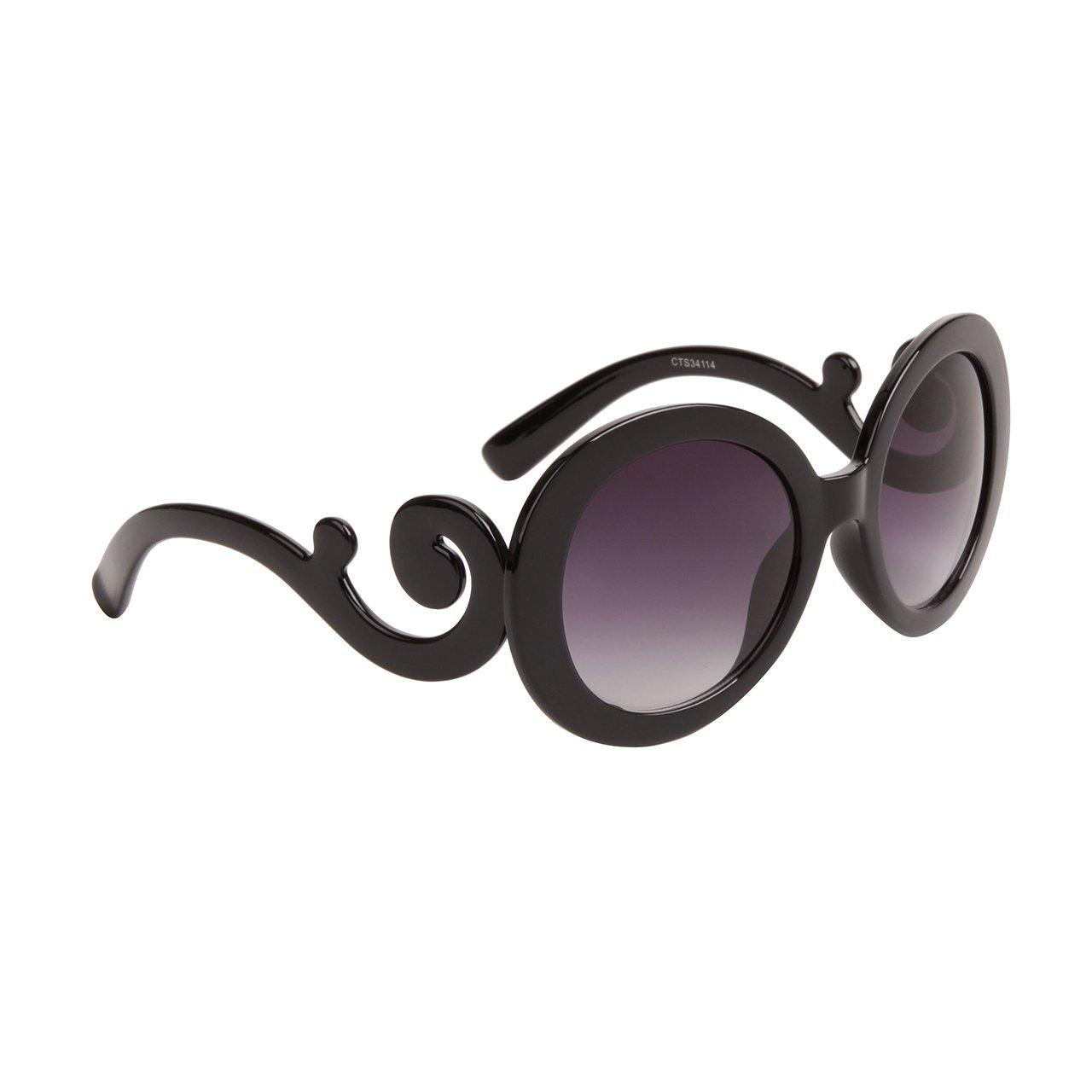DESIGNER INSPIRED WOMEN'S SUNGLASSES BLACK FRAME TOP QUALITY UV PROTECTION